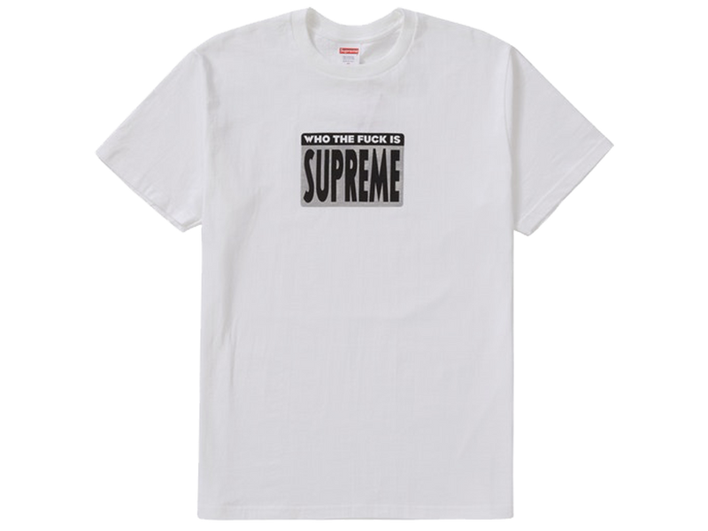 Supreme Who The Fuck Tee White