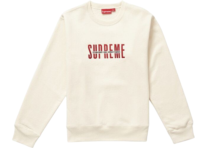 Supreme World Famous Crewneck Natural