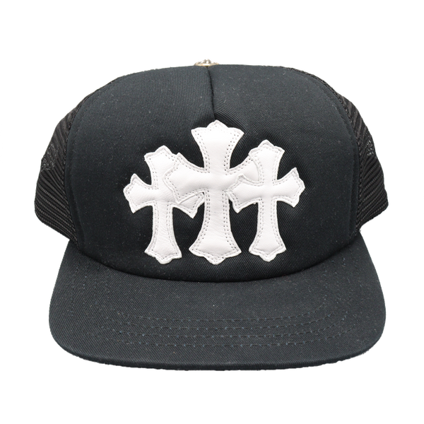 Chrome Hearts Triple Cross Patches Trucker Hat