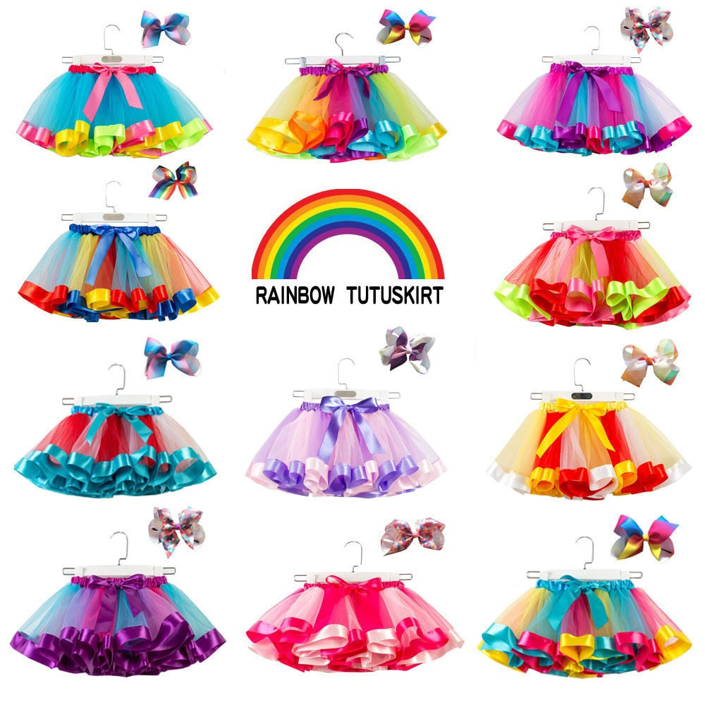 Girls Tutu with Matching Bow