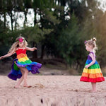 Load image into Gallery viewer, Girls Rainbow Striped Sundress