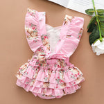 Load image into Gallery viewer, Easter Bunny Ruffle Sleeve Romper