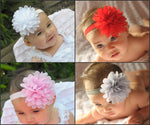 Load image into Gallery viewer, Chiffon Flower Headbands