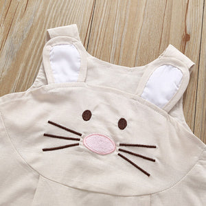 Girls Easter Rabbit Apron Dress