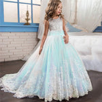 Load image into Gallery viewer, Girls Ballgown with Lace Train