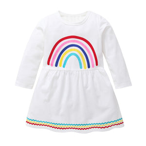 Rainbow Long Sleeve Dress