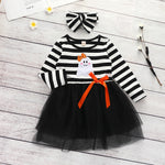 Load image into Gallery viewer, Halloween Tulle Baby Dress and Head Bow