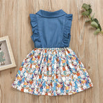 Load image into Gallery viewer, Denim Top Easter Bunny Print Dress