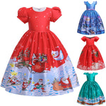 Load image into Gallery viewer, Girls Christmas Ball Gown