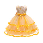 Load image into Gallery viewer, Girls Lace Bow Ballgown