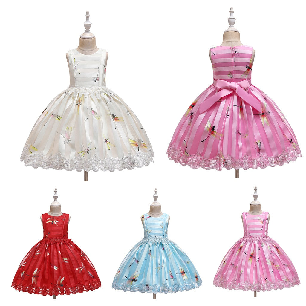 Girls Dragonfly Ball Gown