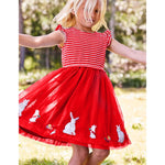 Load image into Gallery viewer, Girls Ruffle Sleeved Rabbit Dress
