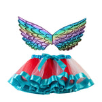 Load image into Gallery viewer, Rainbow Tutu with Angel Wings