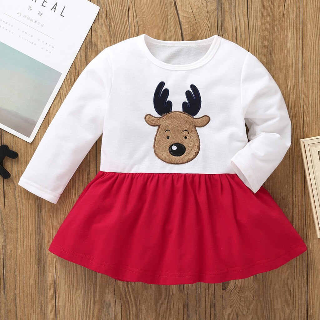 Girls Long Sleeve Christmas Dress