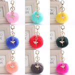 Load image into Gallery viewer, Ballerina Pom Pom Keychain