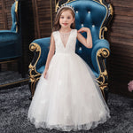 Load image into Gallery viewer, Girls Sleeveless Lace Princess Gown