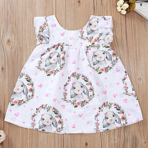 Baby Girls Easter Bunny Cotton Dress