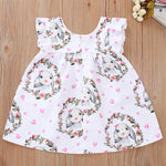 Load image into Gallery viewer, Baby Girls Easter Bunny Cotton Dress
