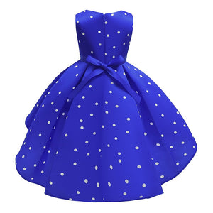 Girls Polka Dot Ballgown