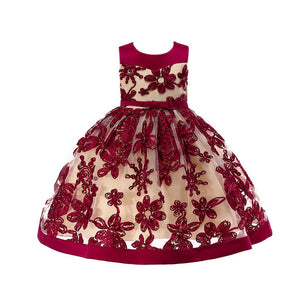 Girls Sparkle Flower Ballgown