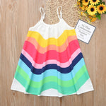 Load image into Gallery viewer, Girls Rainbow Summer Dress