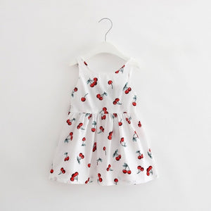 Girls Vintage Cotton Summer Dress