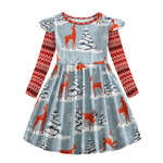 Load image into Gallery viewer, Girls Woodland Creatures Dress