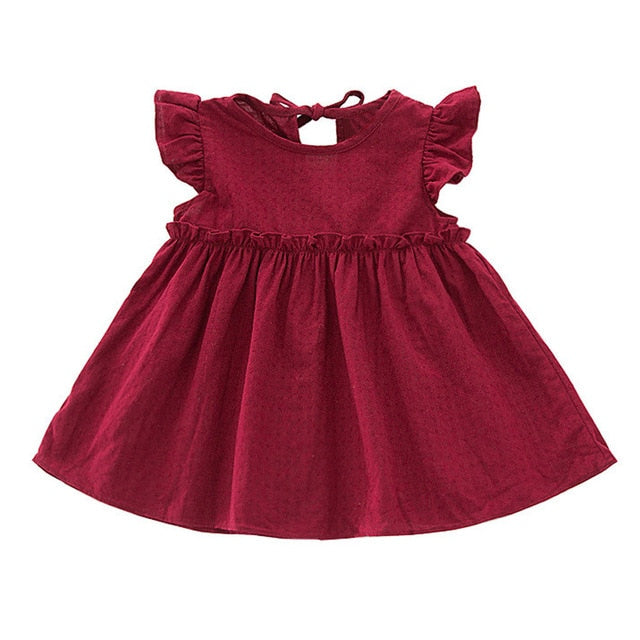 Girls Ruffle Sleeve Dress