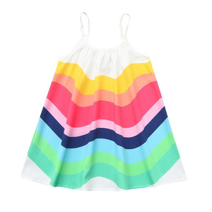 Girls Rainbow Summer Dress