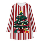 Load image into Gallery viewer, Girls Long Sleeve Christmas Dress