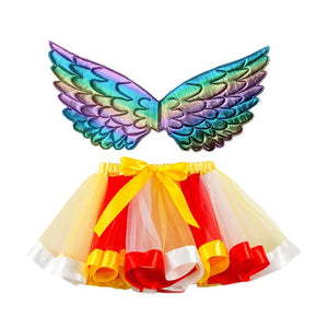 Rainbow Tutu with Angel Wings