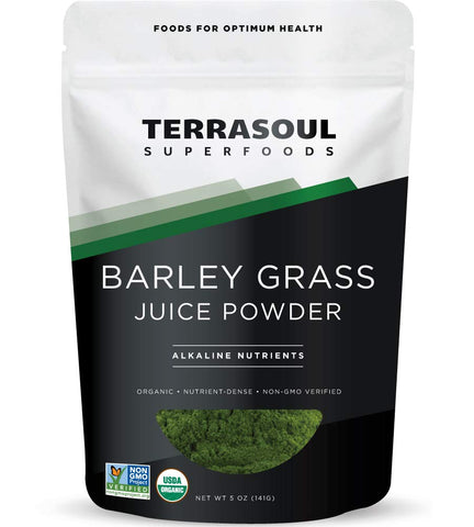 Vegan - Barley Grass Juice Powder - Organic - 5 Ounces