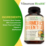 Turmeric Curcumin with Green Tea Extract - 60 capsules
