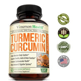 Turmeric Curcumin with Bioperine - Enhanced Natural - 60 Capsules