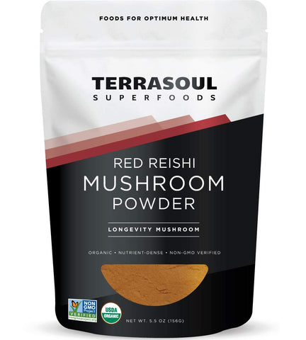 Vegan - Red Reishi Mushroom Powder - Organic