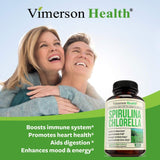 Spirulina Chlorella Organic Green Superfood - 60 capsules
