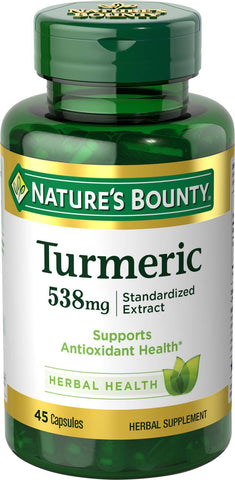 Turmeric Pills and Herbal Health Supplement - 45 Capsules