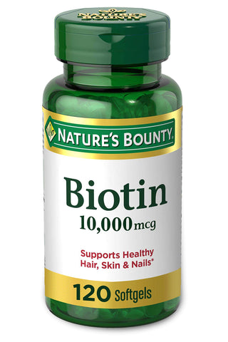 Biotin Supplement - 120 Counts - 10,000mcg