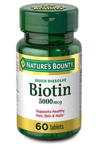 Biotin Supplement - 60 Counts - 5000mcg