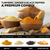 Turmeric Curcumin with BioPerine and Ginger - 60 Count