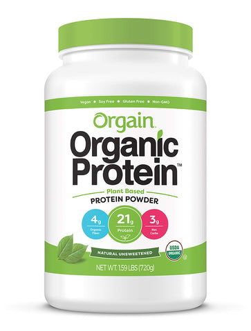 Vegan - Organic Protein Powder - Natural Unsweetened