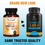 Vitamin D3 5,000 IU Supplement - 60 Softgels