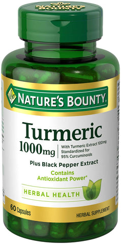 Turmeric Pills and Herbal Health Supplement - 60 Capsules