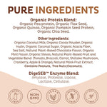 Organic Plant Based Protein Powder - Chocolate
