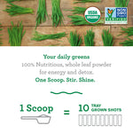 100% Whole-Leaf  - Wheat Grass Powder - 30 Servings