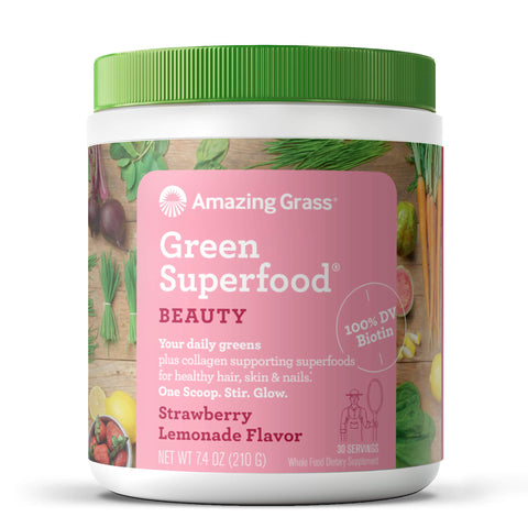 Beauty - Green Superfood - Strawberry Lemonade