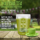 Matcha Green Tea Powder - Stevia Sweetened