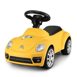 Volkswagen Beetle Kids Foot to Floor Push Along Ride On Sliding Toy Car - Yellow