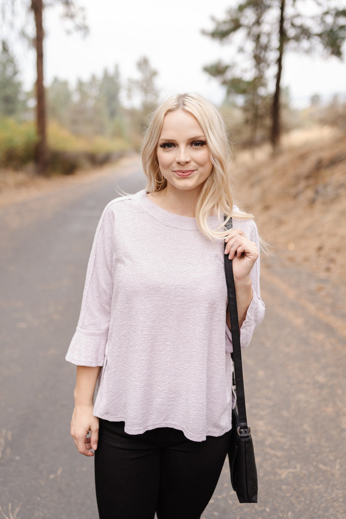 Soft Lavender Flutter Top