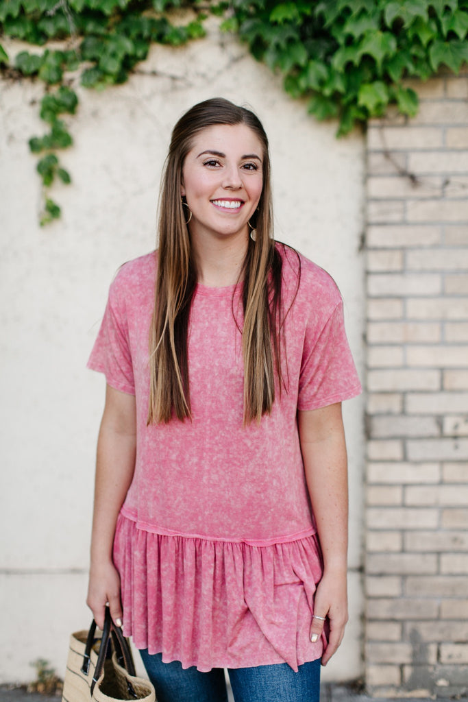 Mineral Wash Rose' Tunic